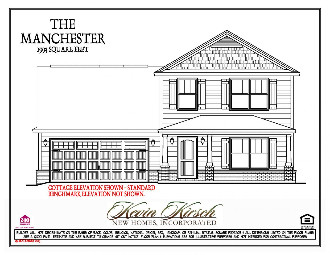 The Manchester | Floor Plans | Kevin Kirsch Homes